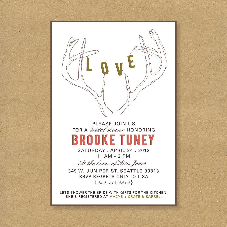 Bridal Shower Invitation Wording Recipe Card  Bridal Shower