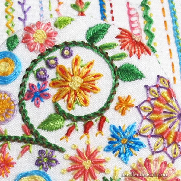 flower of the fields. Eglantine embroidery kit