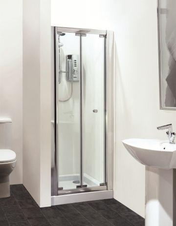 Hydrolux Meridian 1000mm Frameless Bi Fold Shower Door Bifold Shower Door Shower Makeover Shower Doors