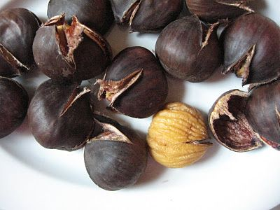 How to roast chestnuts!  Delicious, especially during the winter holidays....