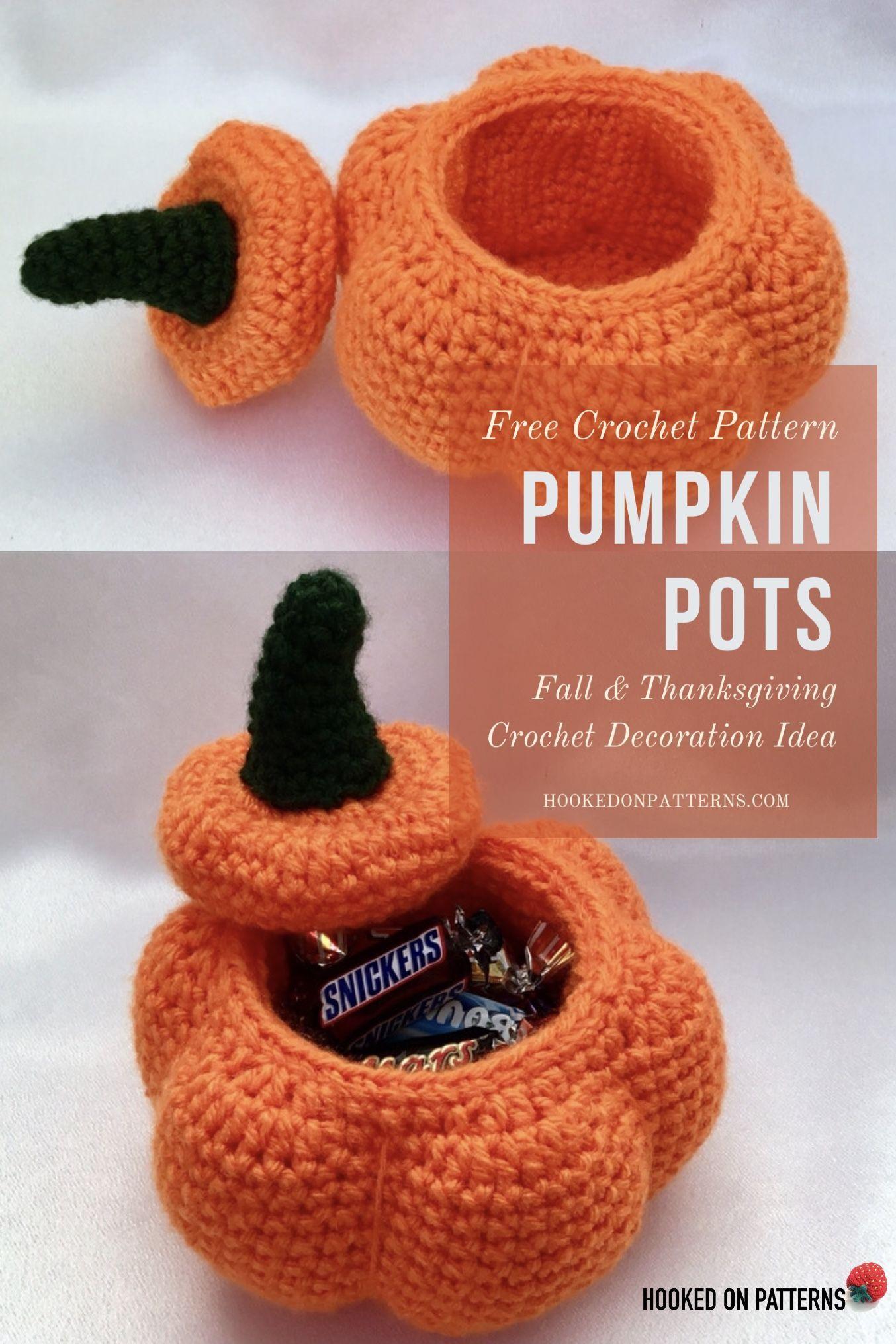 Free Crochet Pumpkin Pots Pattern