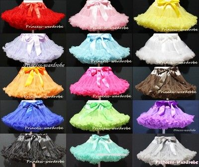 Flowergirls- SOLID COLOR Multi-List Pettiskirt Skirt Petti Party Dance Tutu Dress Girl 1-8Y