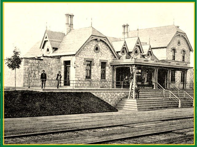 BRYN MARR, PA -  Railroad depot 1869 to 1963 (demolished) Colonial Collegiate Style architecture  OL