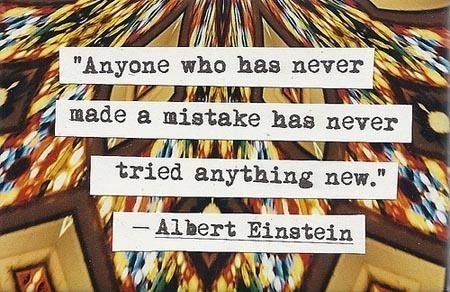 Never made a mistake, never tried anything new. Motivational quotes about keep on trying. Tap to see more inspirational quotes that motivate you! - @mobile9