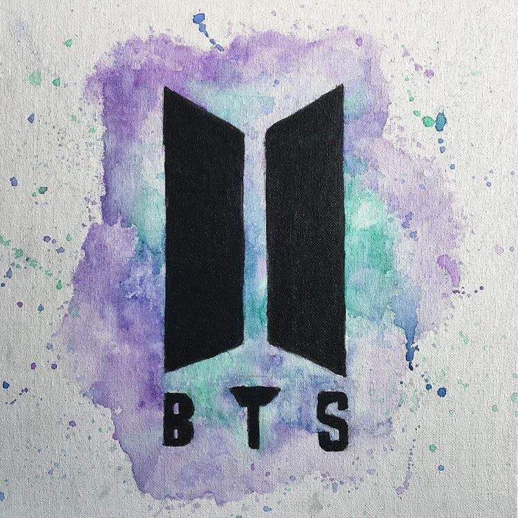 Bts Watercolor And Logo Watercolor Pencil Bts Drawings Bts