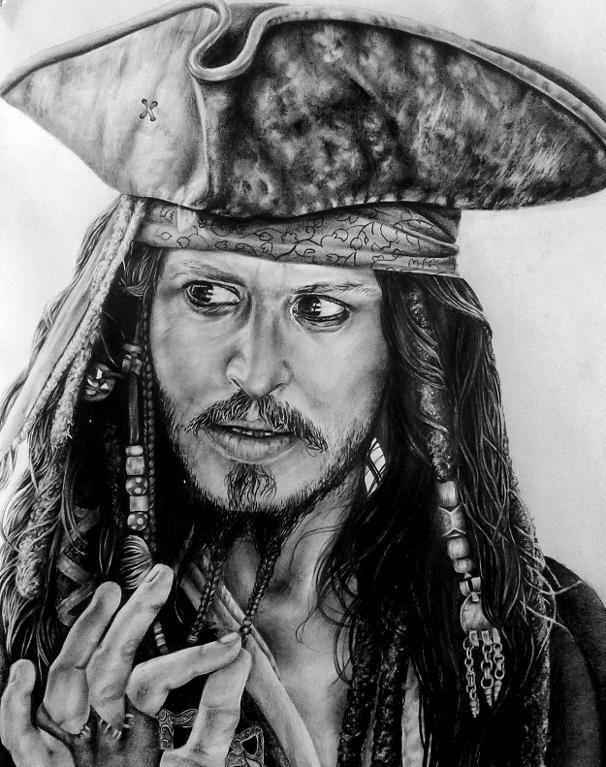 Нарисованные картинки пиратов карибского моря