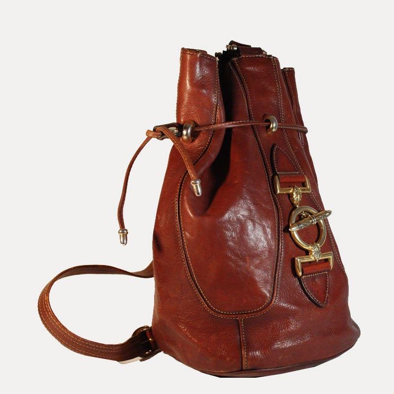 sac-a-dos-type-sac-seau-en-cuir-cognac-avec-fermoir-esprit-bijoux-texier-vintage.jpg (800×800)