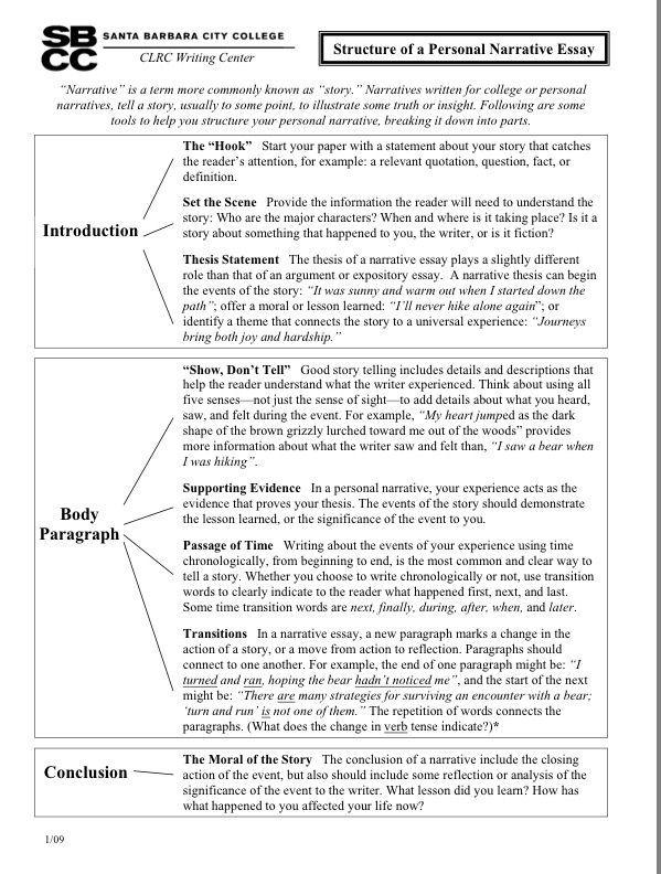 How To Write A Personal Narrative Pt  Thesis  Pinterest  How To Write A Personal Narrative Pt