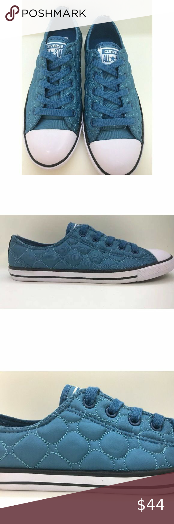 Molestia para Borrar  Converse Dainty OX Blue Quilted Women 6 Converse CT Dainty OX Color is  called Aero Blue Women's size 6 (23 cm) Q… | Converse dainty, Converse,  Womens shoes sneakers