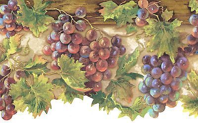 Pin By Itziar On Cenefa Wallpaper Border Wallpaper Border Kitchen Grapes