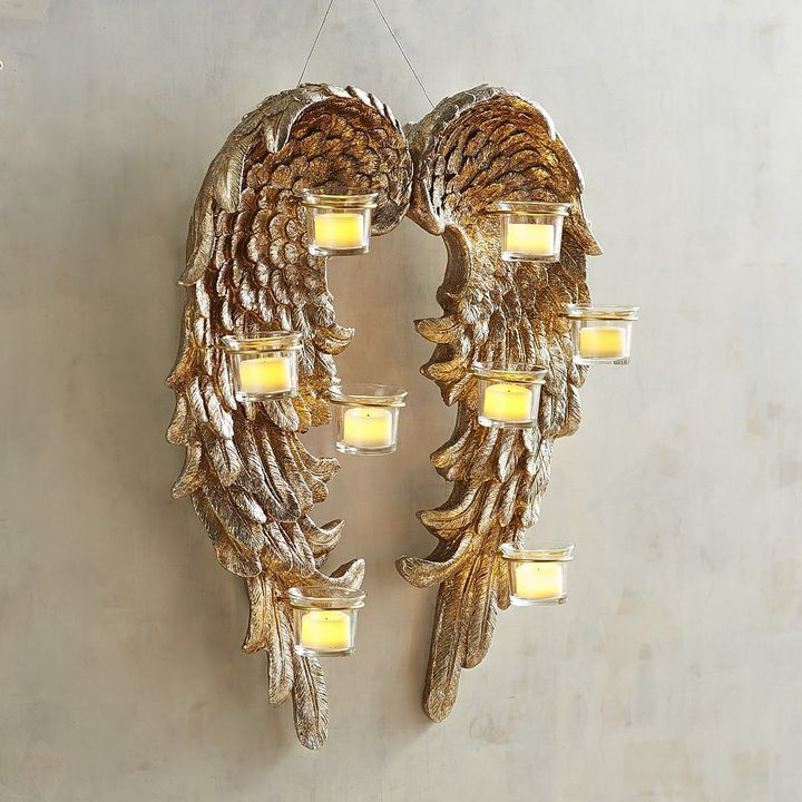 Angel wings tea light holder candle wall sconce to add a touch of angel wings tea light holder candle wall sconce to add a touch of magic to aloadofball Images