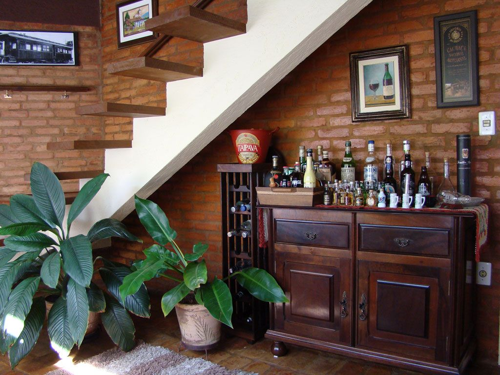 , Interior Design, Interior, Staircase, Bar Area, Ranch Style Homes