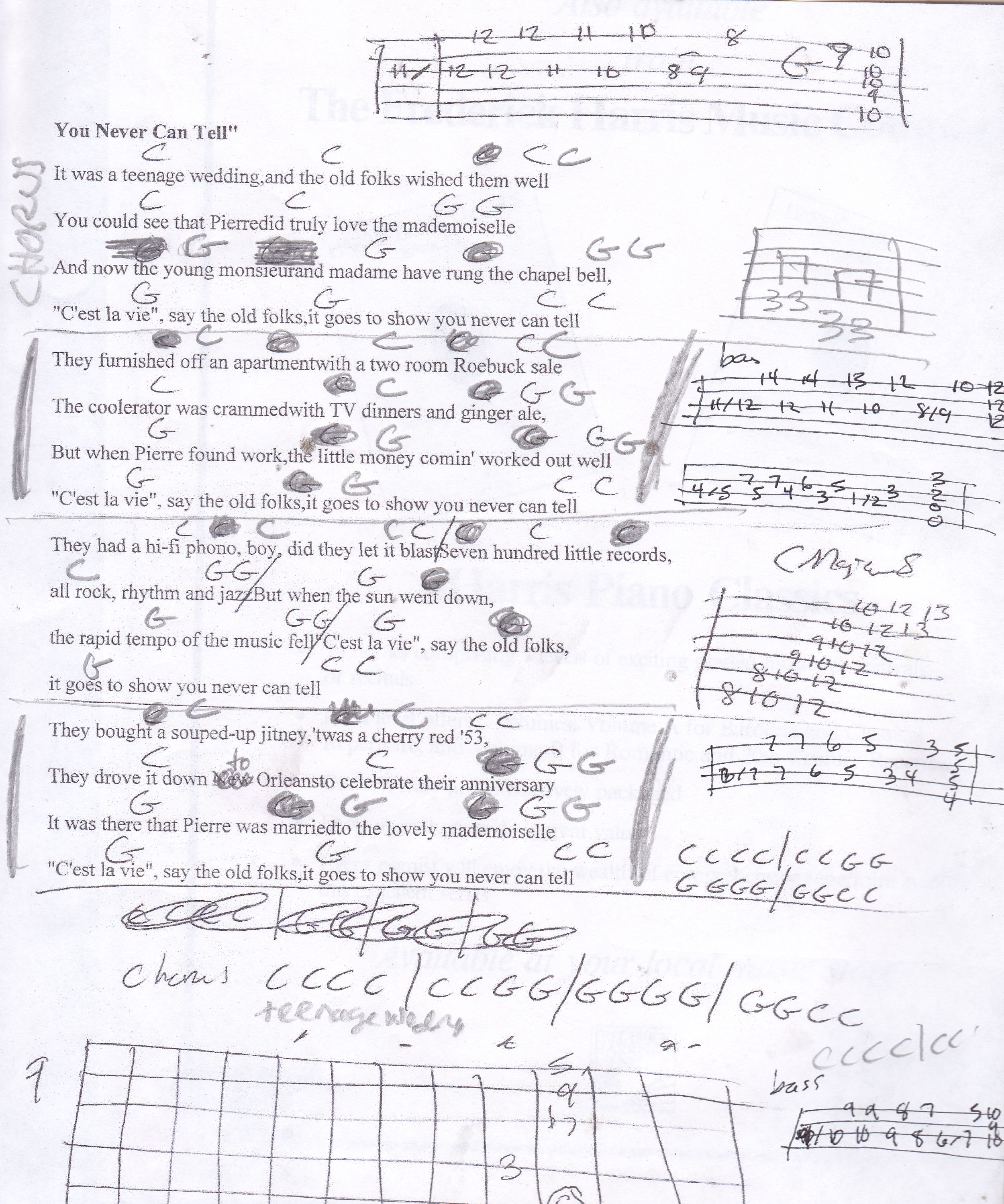 I Never Told You Guitar Chords