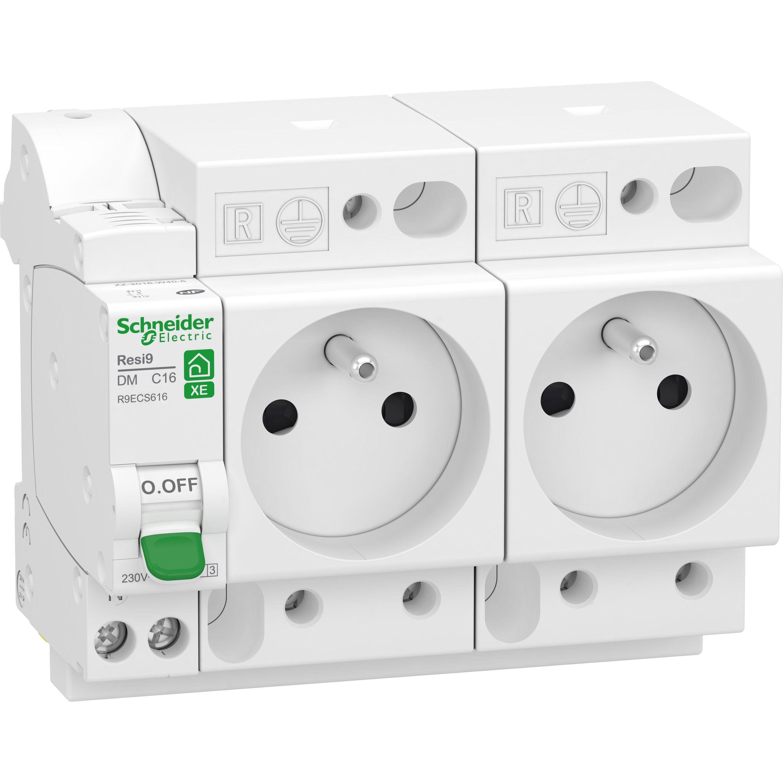 Lot De 2 Prises Modulaires 2 P T Schneider Electric 16 A