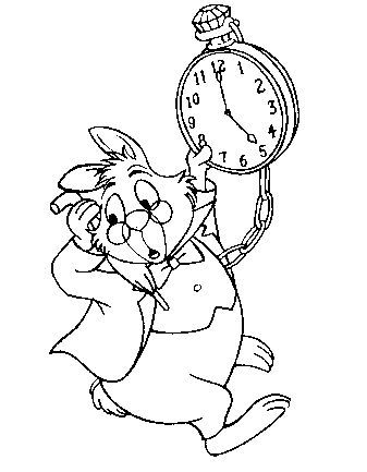 Kids Under 7: Alice in Wonderland Coloring Pages   Party- Mad ...
