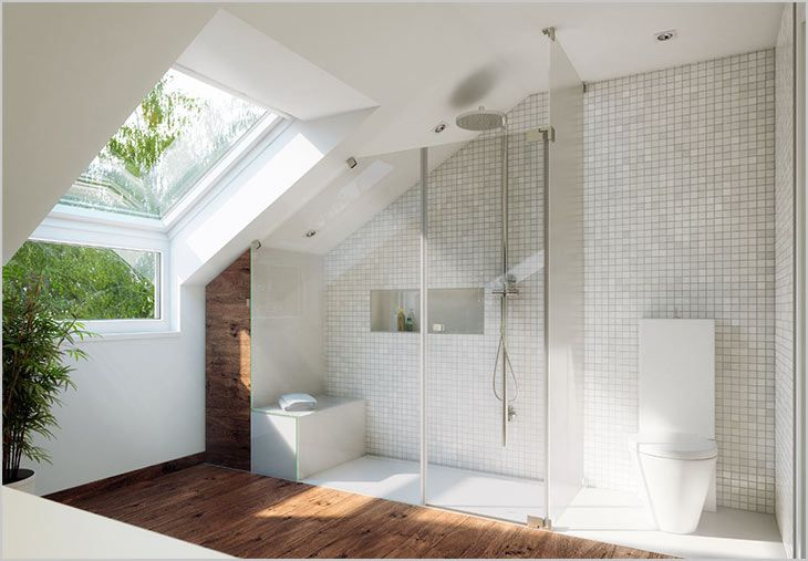Badezimmer-Dachschräge | HOME - Bathroom in 2019 | Bathroom, Loft ...