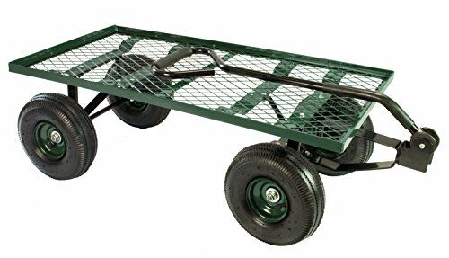 Erie Tools Steel Flatbed Garden Cart 38, Steel Utility Flat Garden Wagon