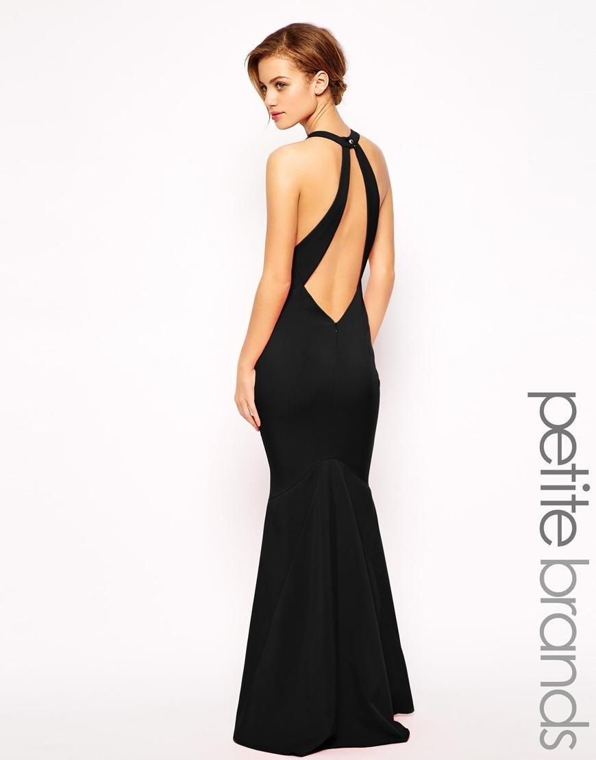 Jarlo Petite Jarlo Petite Backless Maxi Dress At Asos Prom