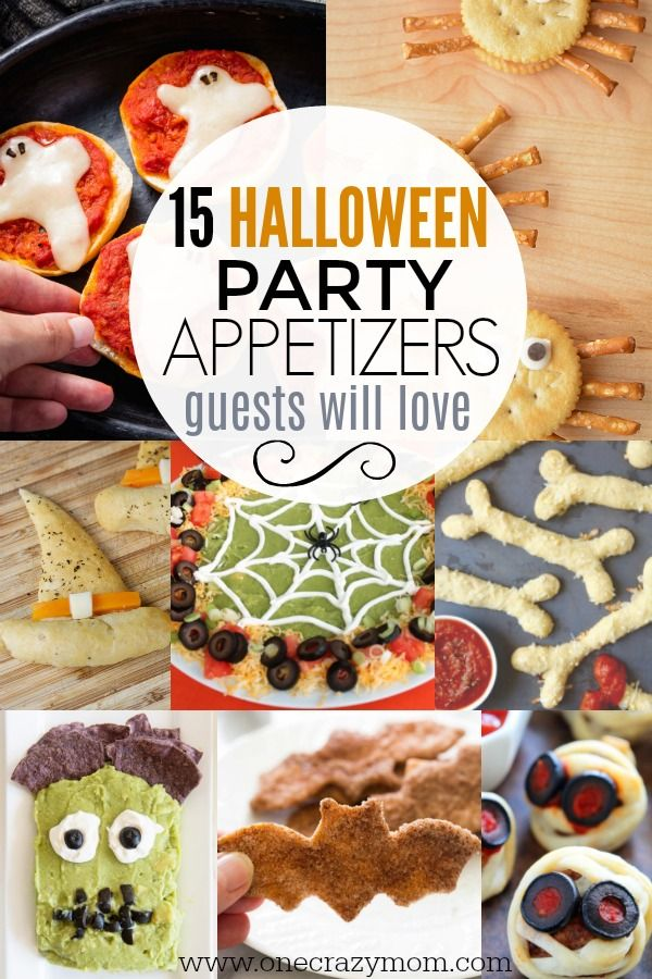 Halloween Appetizers - 15 Halloween Snack Ideas Pinterest - fun halloween food ideas