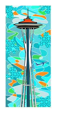 Perfect for Orbit Lounge.  Love the prints of artist Nat Reed