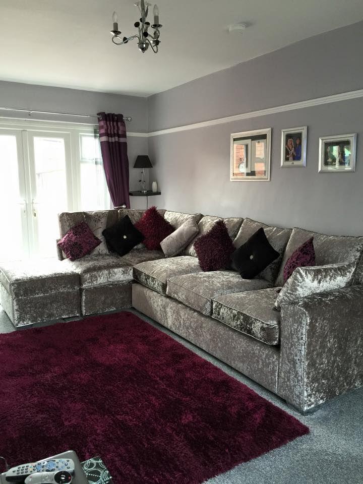 Stunning Crushed Velvet Corner Sofa Only 1 299 Call A Member