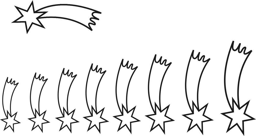Sternschnuppe Vorlage Zum Ausschneiden Sternschnuppen Vorlagen