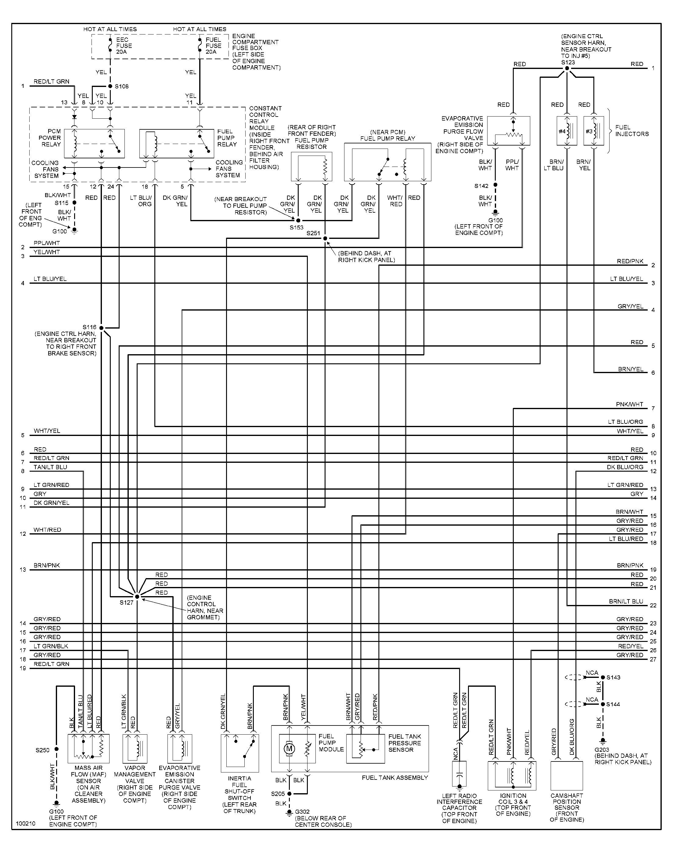 1998 Ford Mustang Engine Diagram Mustang Engine Ford Mustang Ford Focus Engine