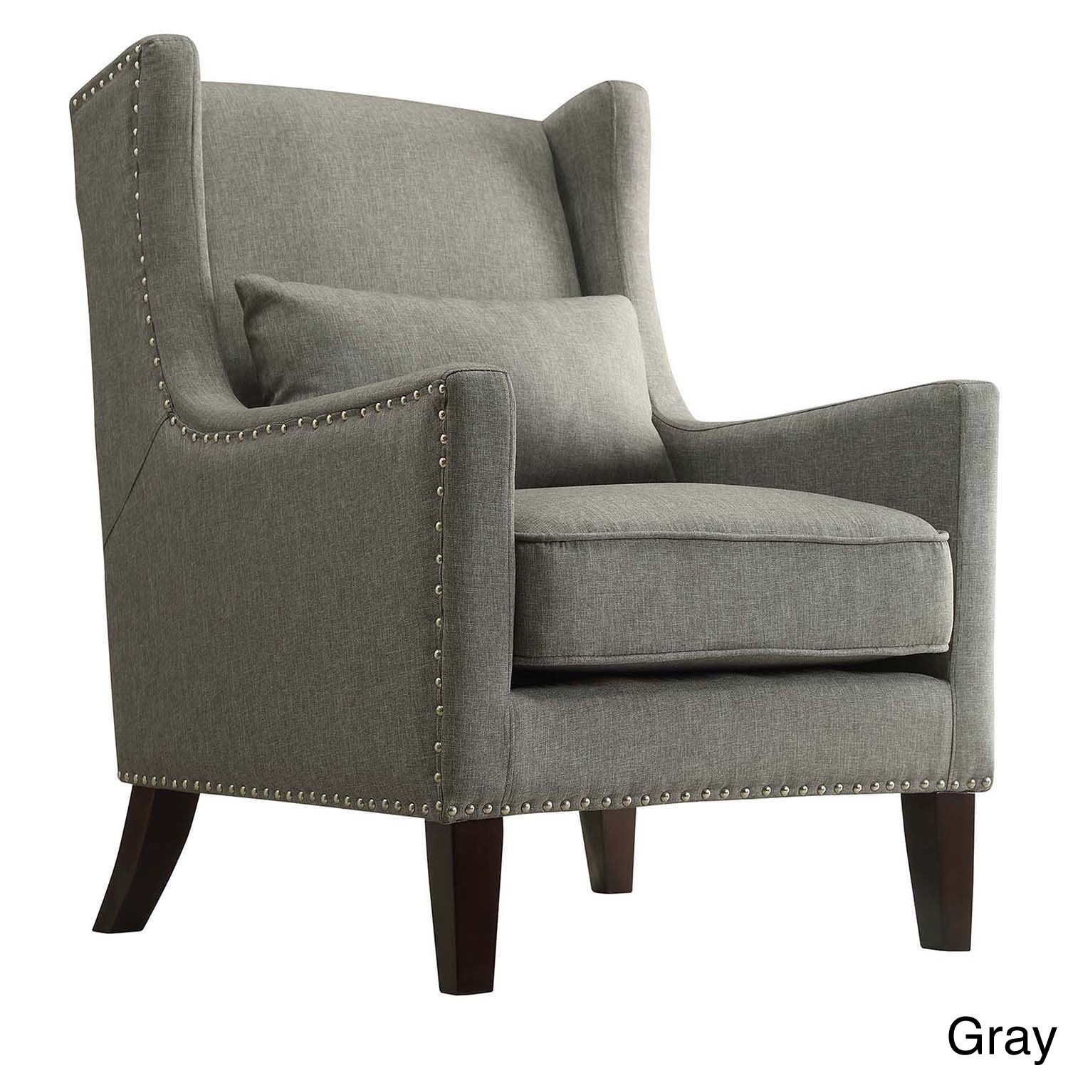 Murray Wingback Arm Chair Grey - Inspire Q