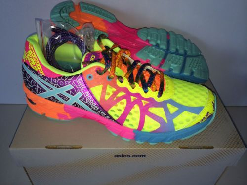 cheap for discount 8bfad e90e0 New Women's Asics Gel Noosa Tri 9 Flash Yellow Turquoise ...