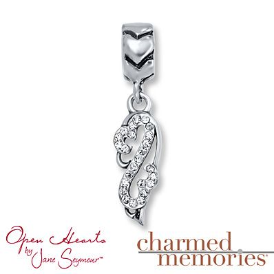 deb7ab80a Charmed Memories® Angel Wing Charm Sterling Silver Pandora Bracelets,  Pandora Jewelry, Bracelet Charms