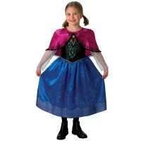 Girl's Deluxe Frozen Anna Costume -Disney Princess Party Fancy Dress Costume