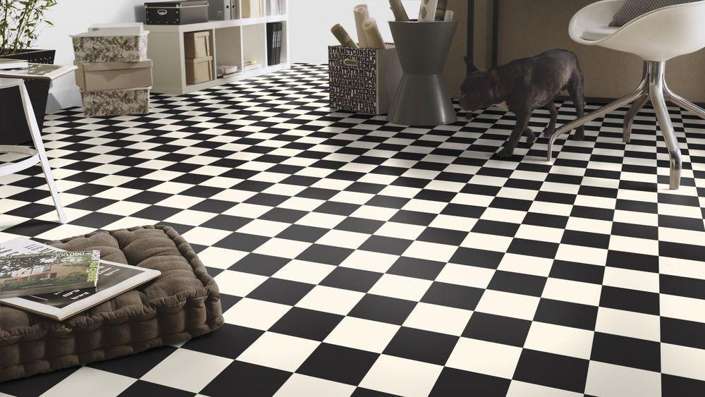 Pavimento in pvc dama vintage bianco nero spess mm altezza
