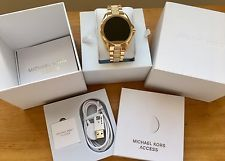 8fa05a06c1ce NWT MICHAEL KORS Access Gold Glitz Bradshaw Touch Screen Smartwatch MKT5002