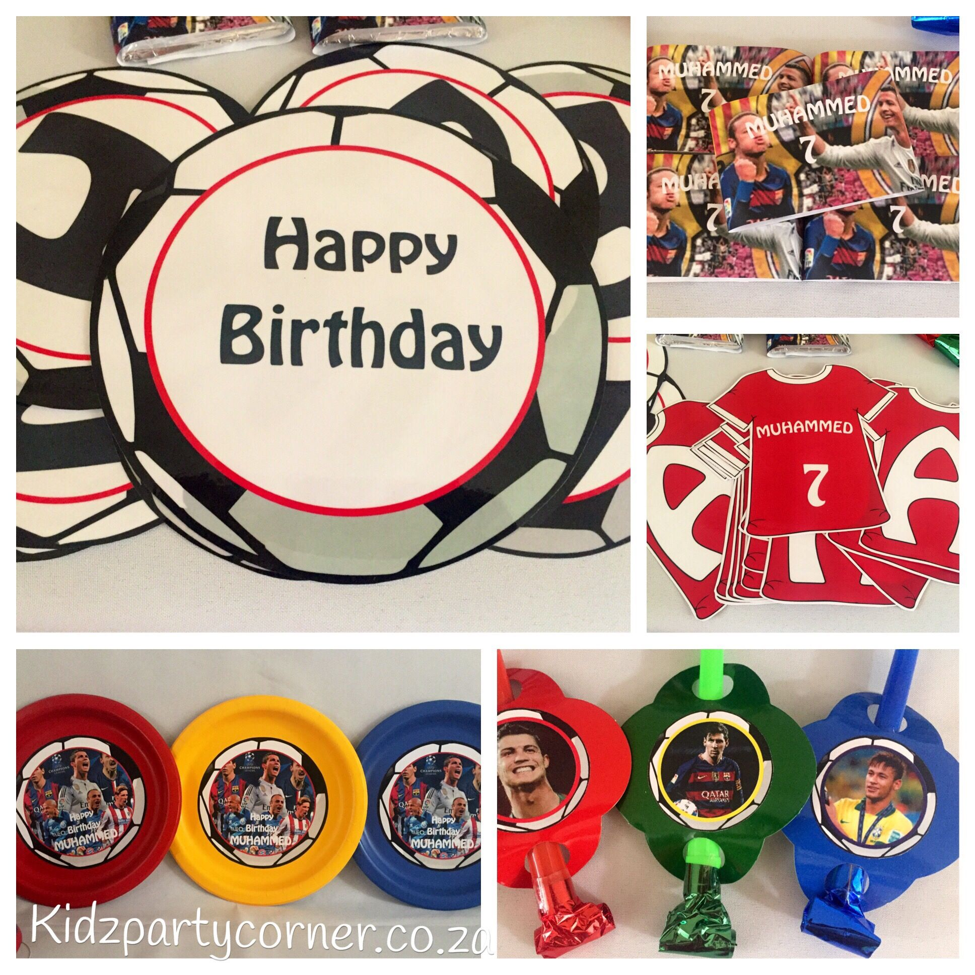 Decorative Stars For Parties Soccer Stars Birthday Theme Party Suppliesdecor And Favours Www