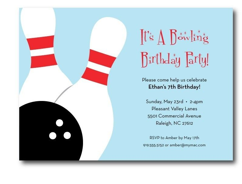 bowling invitations templates free | Free Printable Bowling Birthday ...