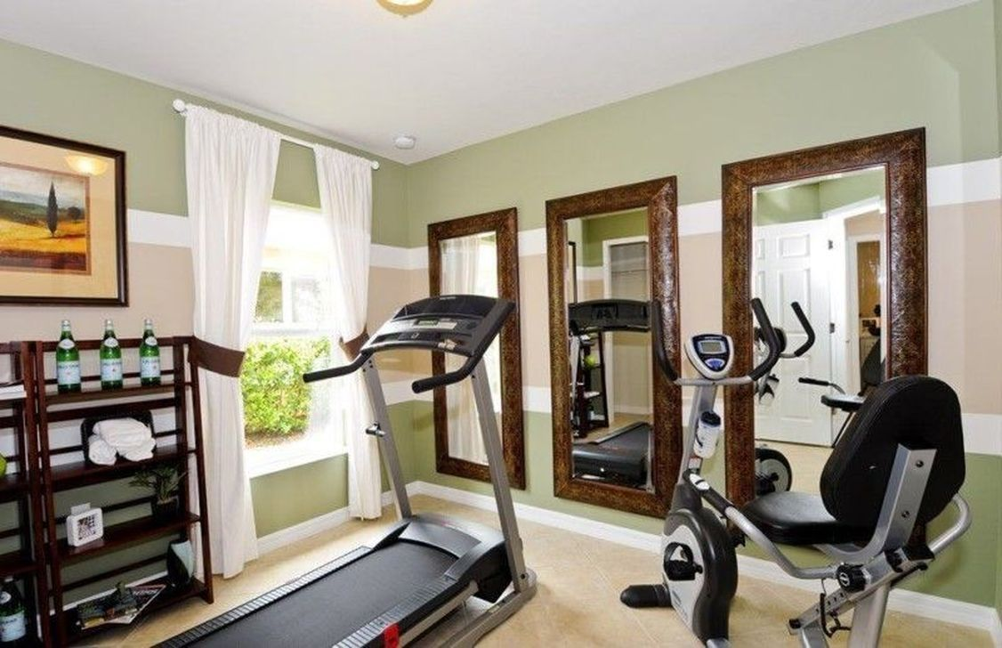 44 Amazing Home Gym Room Design Ideas images