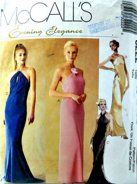Mccalls 3222 Pattern Evening Elegance Halter By Vintageneedlefinds