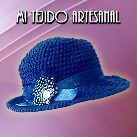 sombreros tejidos a crochet para damas - Buscar con Google ... c7d5ea30ca8