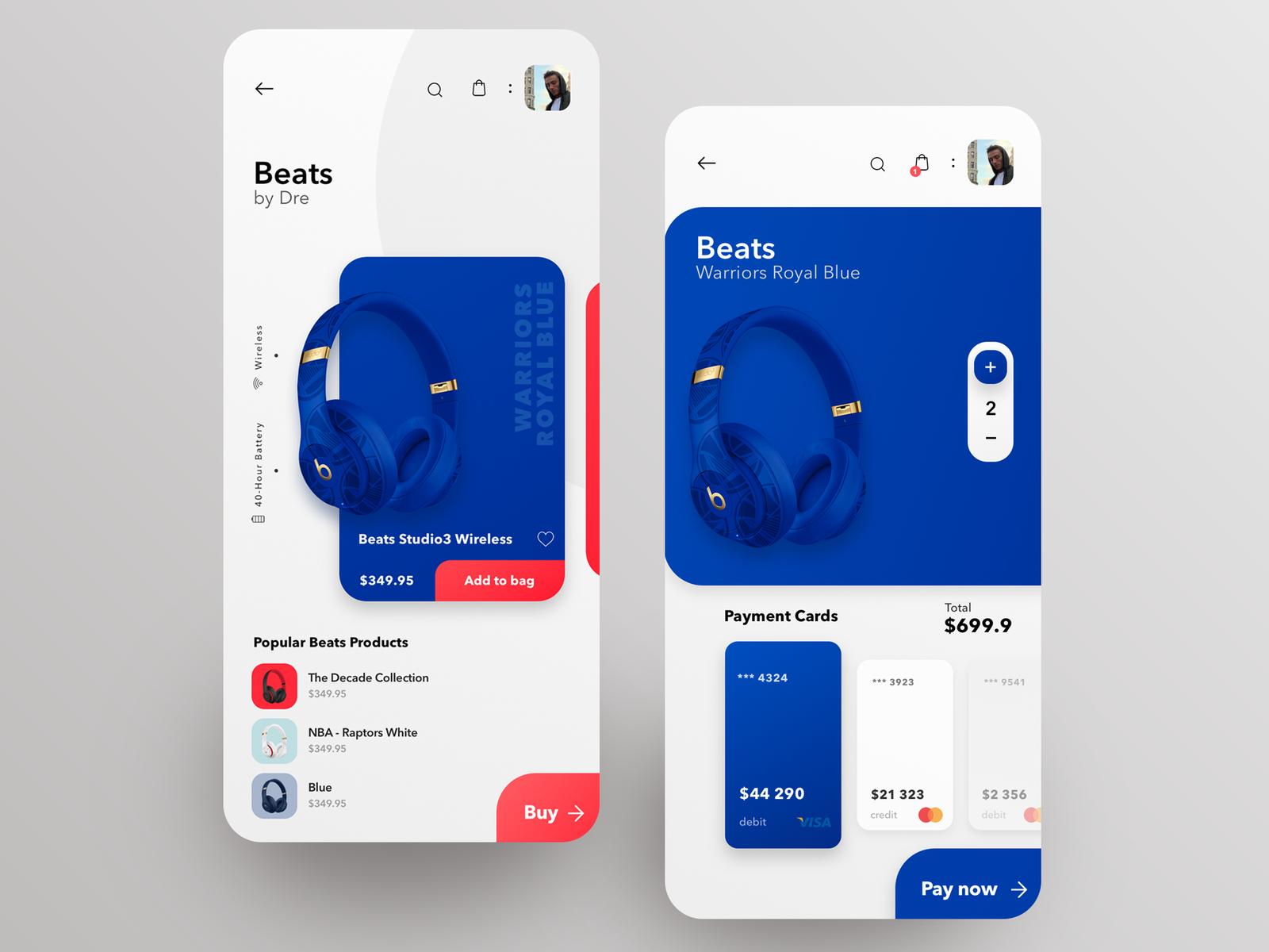 Beats Mobile App Concept Design Mobile Application Design Mobile App Design Mobile App