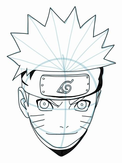 Drawing naruto tutorial