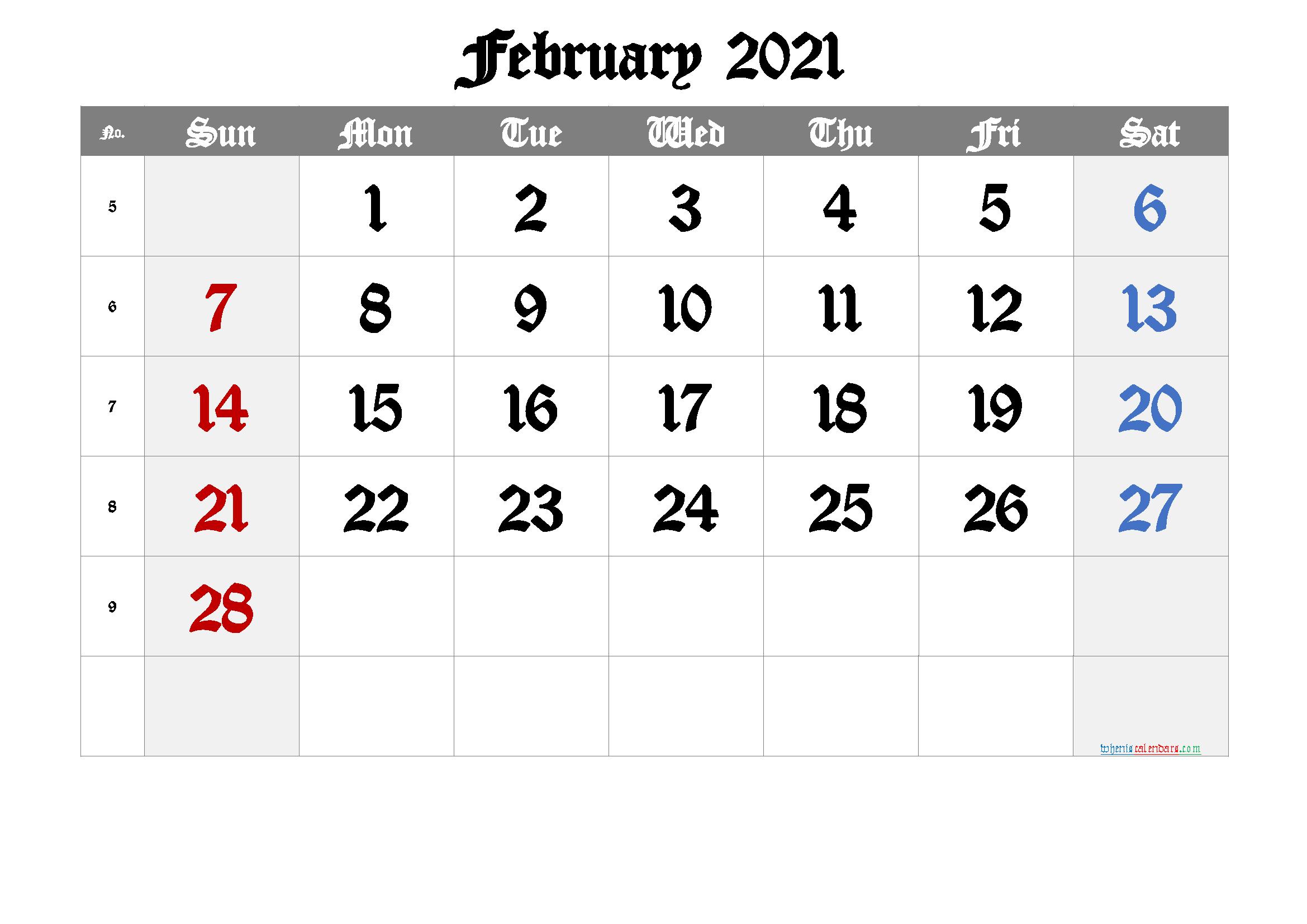 Free Printable Calendar 2021 February Free Premium In 2020 2021 Calendar Calendar Printables Printable Calendar Template