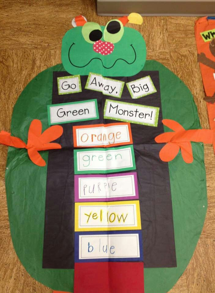 Go away big green monster interactive writing