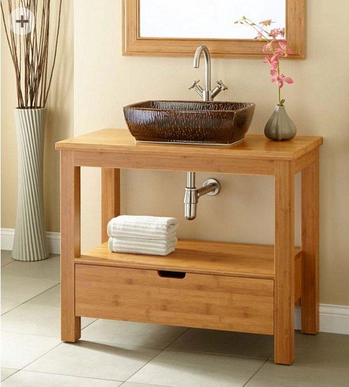 Bambus Waschtisch Unterschrank 70 Cm Unterschrank Badezimmerwaschtisch Waschtisch