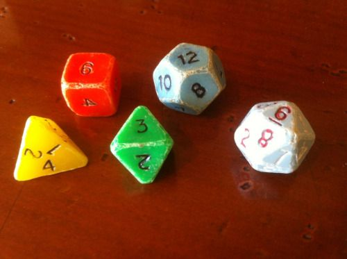 "oldschoolfrp: "" My first polyhedral dice were the 5 that came in ..."