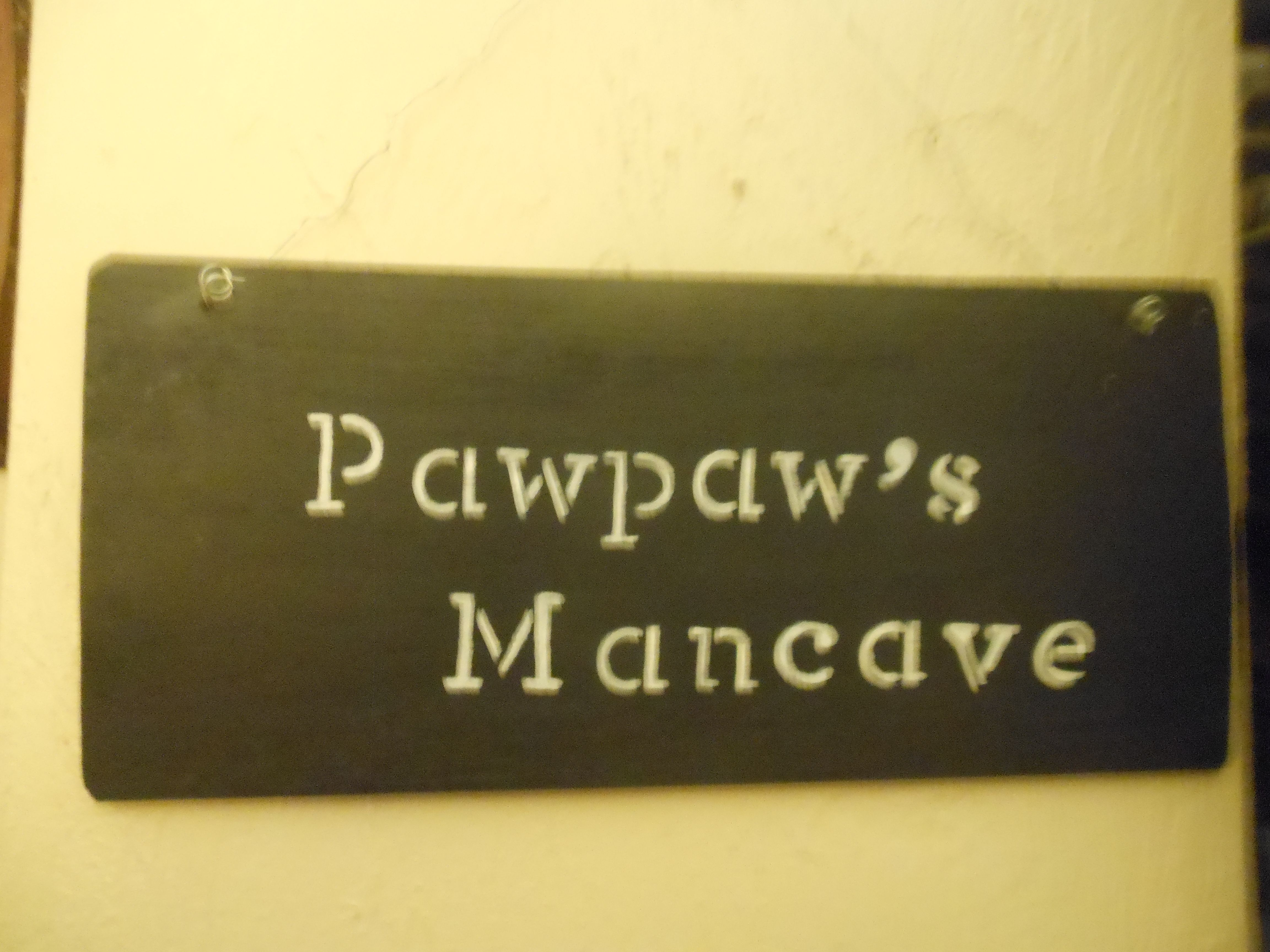 Hang this light weight birch sign on PawPaw's door-Painted black with vanilla lettering and hanging from a black cord-it shows Pawpaw's domain-Etsy n Facebook