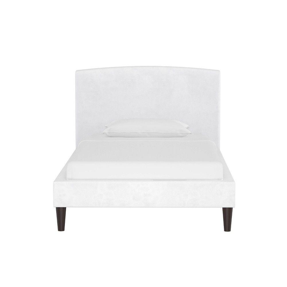 Twin Kids Curved Bed Velvet White - Pillowfort