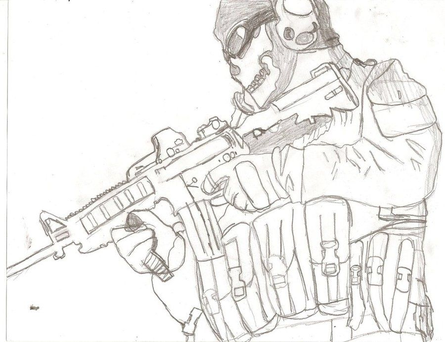 Call Of Duty Ghosts Coloring Pages Call Of Duty M W 2 Ghost By