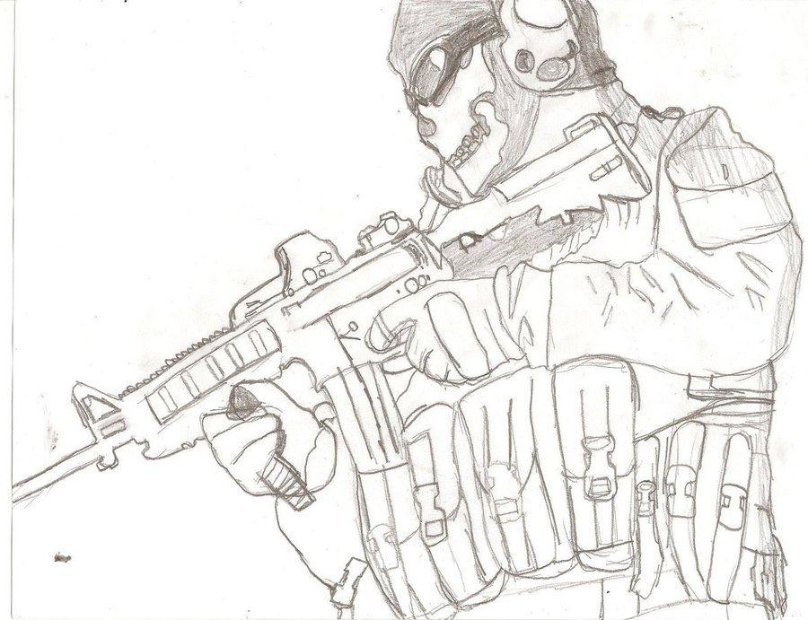 Drawing Simon Ghost Riley