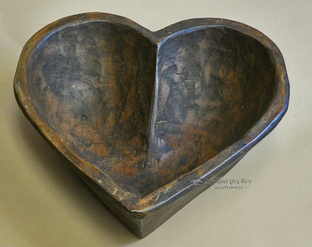 Southwestern Heart Shaped Wooden Bowl B17 Carved Wooden Bowl Wooden Hearts Wooden Bowls