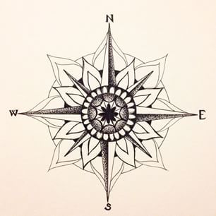 mandala compass google search tattoos i covet pinterest kompass tattoo ideen und. Black Bedroom Furniture Sets. Home Design Ideas